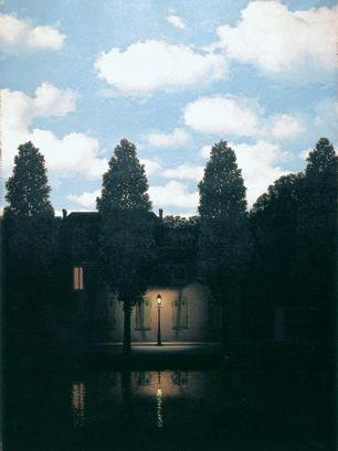 Rene Magrite - love the night/day juxtapositionFavorite Artists, Modern Art, 1954, Artists Inspiration, Rene Magritte, Favorite Painting, Rene Magritte, Houston Texas, Rene Magrite
