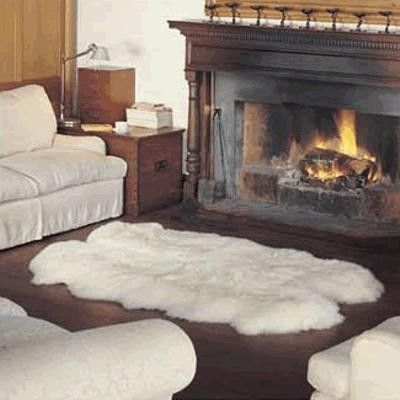 White Fur Rug Fireplace Home White Sheepskin Rug