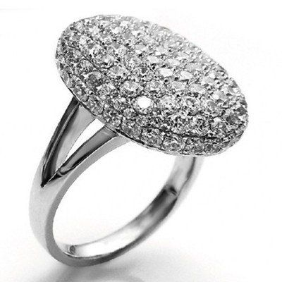 Twilight Inspired Bella's Silver Plated Little Crystal Engagement Ring