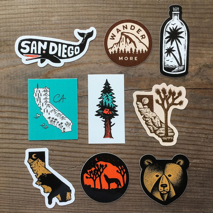 Ca sticker california themed stickers made in usa with vinyl and silkscreened ink