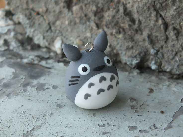 Totoro handmade from polymer clay