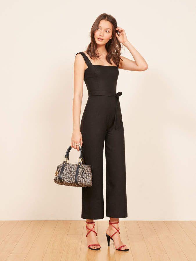 dcec8d245664 Reformation Petites Birch Jumpsuit Weekend Outfit