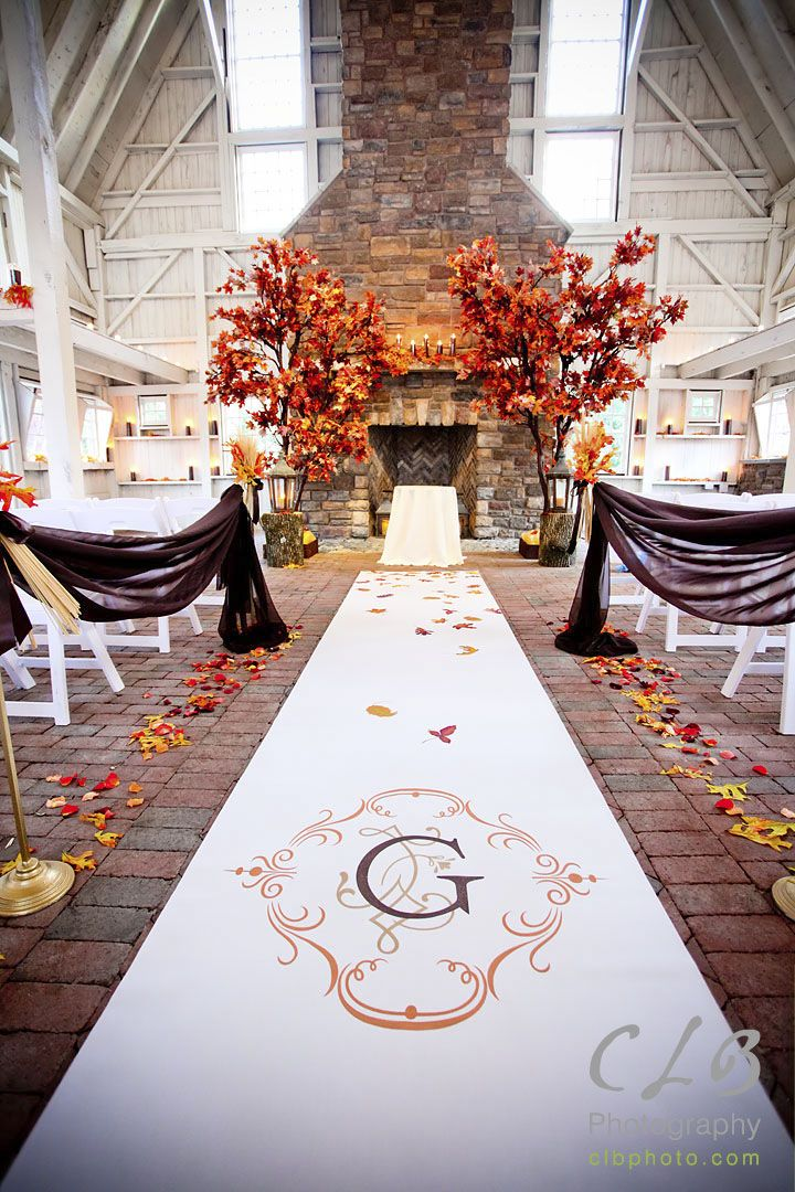 Autumn Wedding Reception Decorations