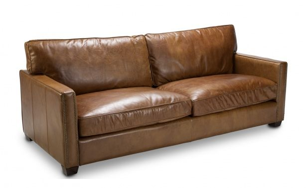 Coco Republic Douglas 3 Seater - Old Saddle