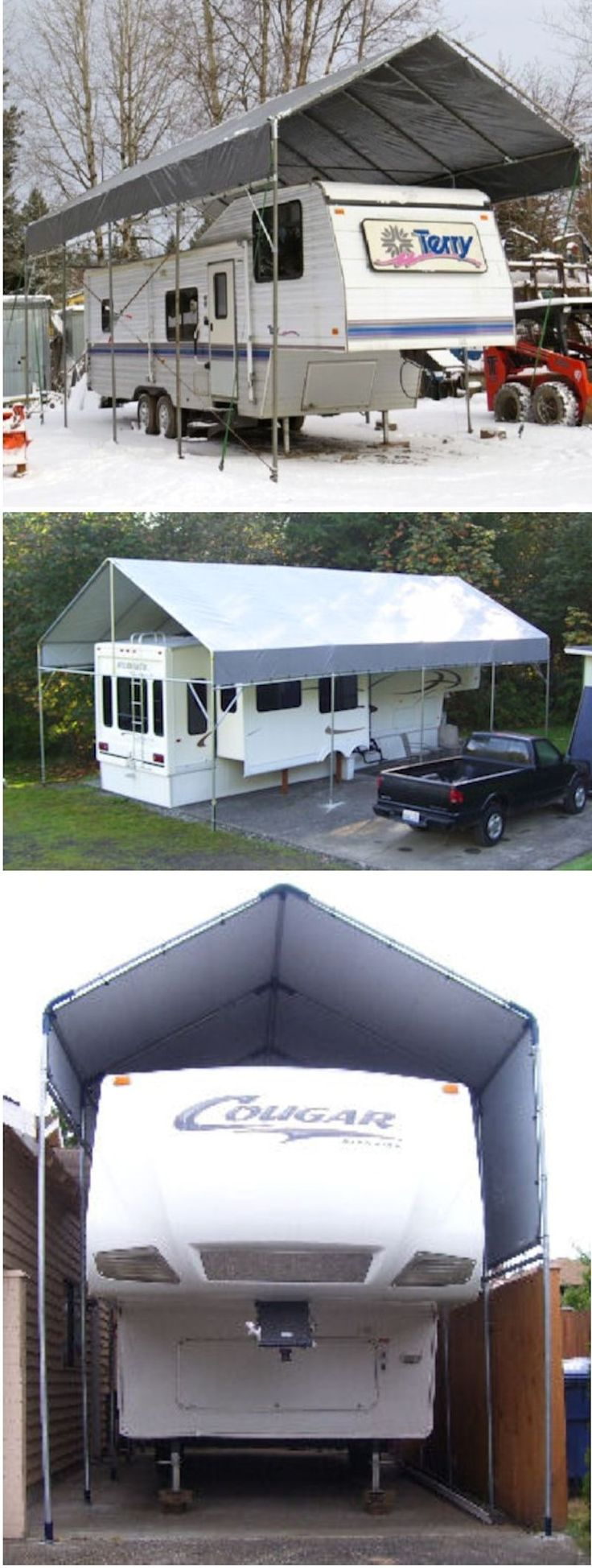 Make-Your-Own Portable Carport Shelter **Long Lasting Heavy Duty Covers for…