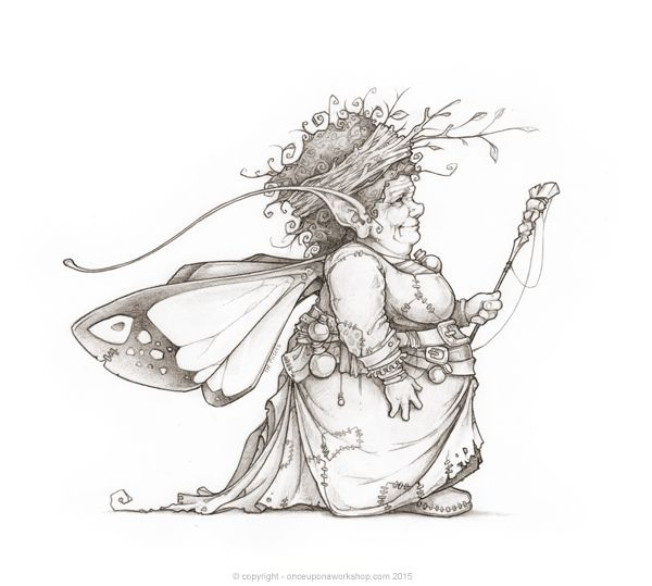 This is the earthen faerie who we drew for an upcoming book by Georgette Mayes.