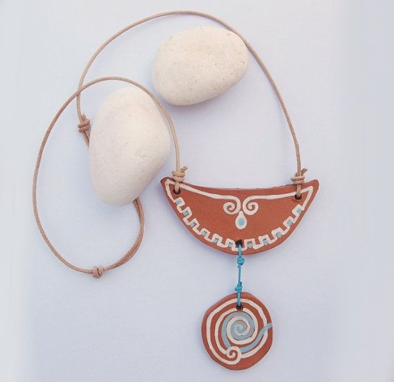 Ariadne Terracotta necklaceFREE SHIPPING by IoannasVeryCHic,