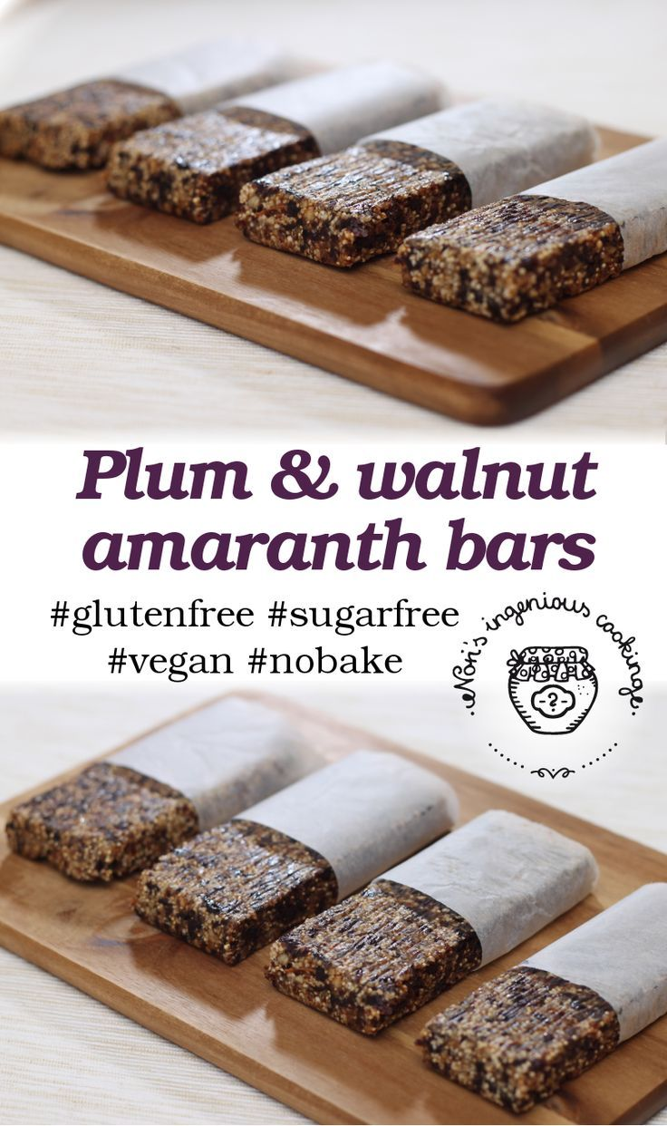 Nóri's ingenious cooking: Plum and walnut #amaranth #bars ( #healthy, #glutenfree, #lowcarb, #sugarfree, #vegan #recipe)