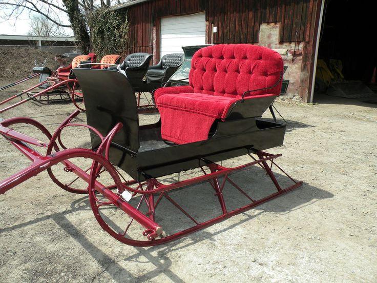 Antique Restored 2 Passenger Sleigh Christmas Holiday Santa Sled #TheSturtevantLarrabeeCo