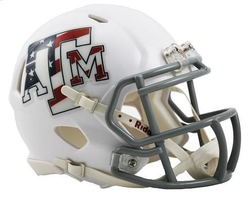 Texas A&M Aggies Speed Mini Helmet - Stars & Stripes