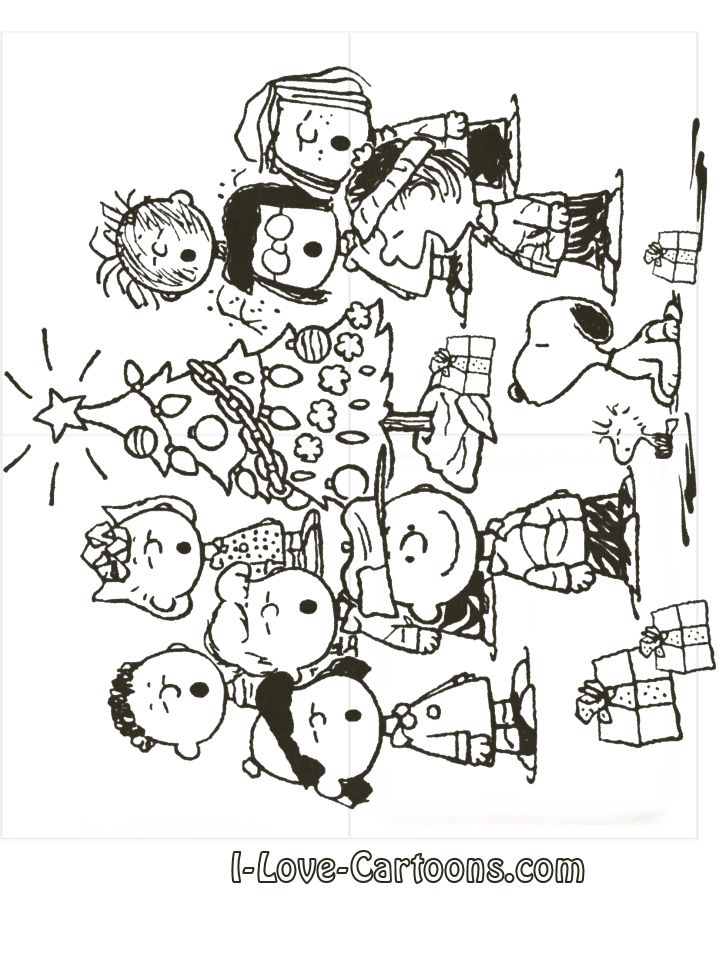 Christmas Coloring Pages Charlie Brown For Kids