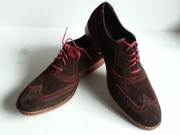 COLE HAAN men wing tip #oxford style suede shoes size 7.5 brown C11169 ColeHaan visit our ebay store at  http://stores.ebay.com/esquirestore