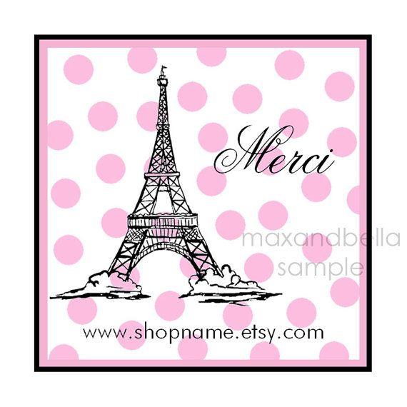 Personalized Paris Stickers labels seals Invitation by maxandbella, $5.95
