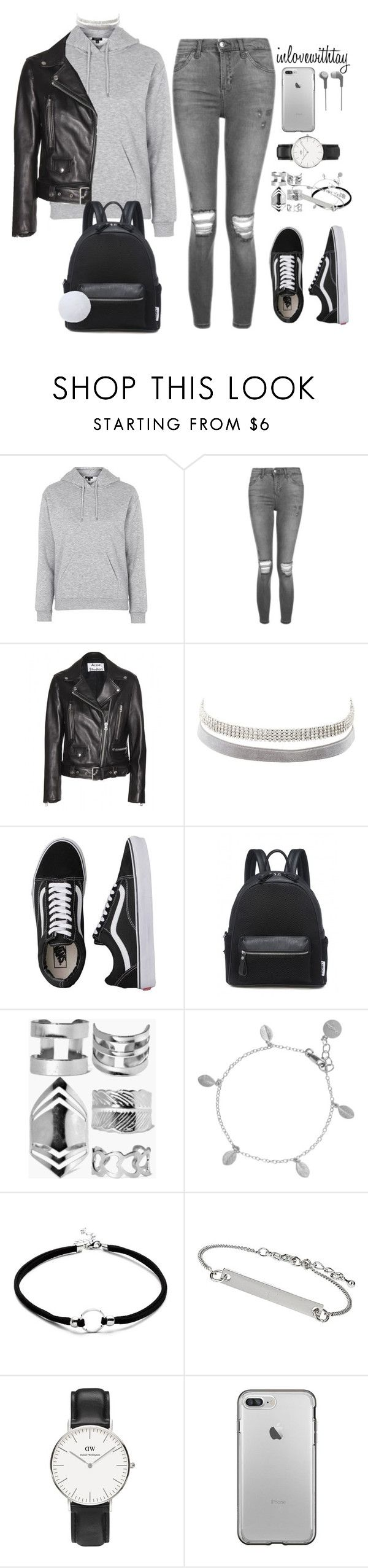 """""""18❤"""" by inlovewithtay on Polyvore featuring mode, Topshop, Acne Studios, Charlotte Russe, Vans, Boohoo, Chupi et Daniel Wellington"""