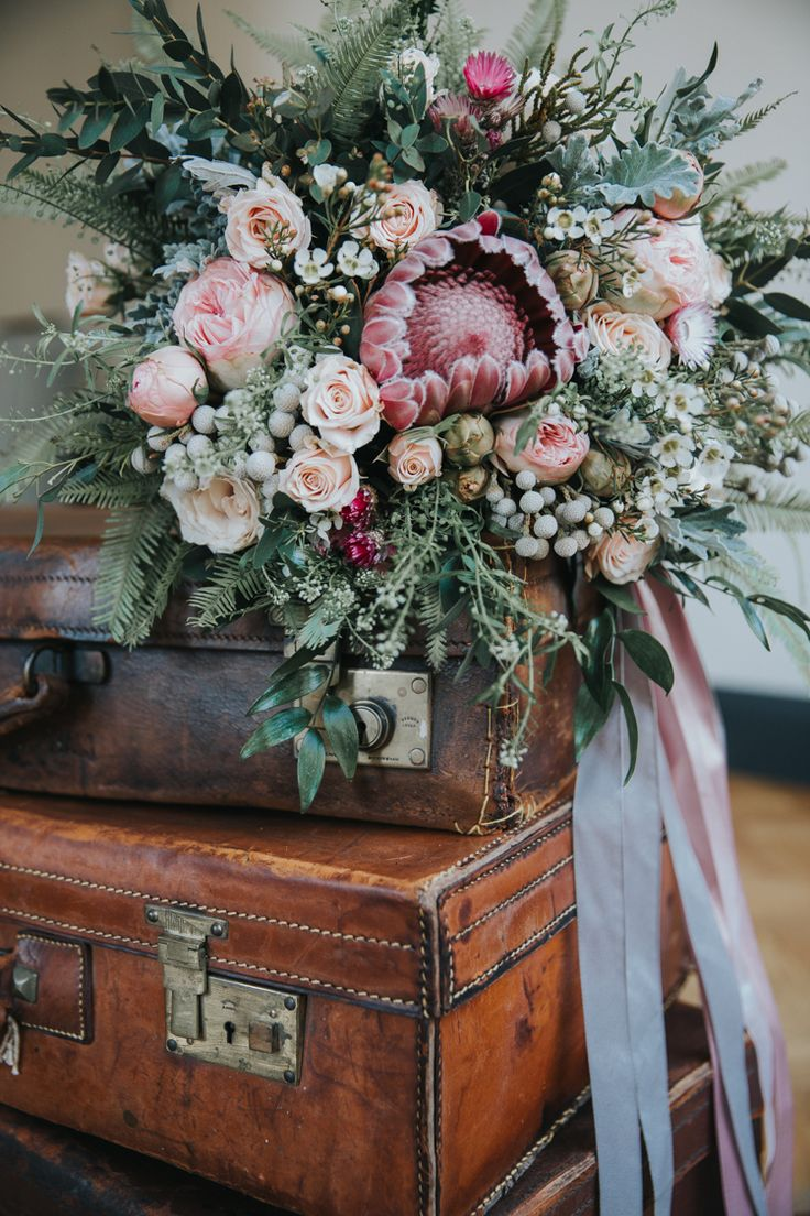 881 best wedding bouquets images on pinterest bridal bouquets bouquet flowers pink foliage roses protea bride bridal ribbons industrial into the wild greenery wedding ideas dhlflorist Images
