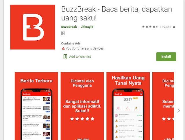 Cara Menggunakan Buzzbreak Aplikasi Baca Berita Penghasil Uang Dan Saldo Dana Aplikasi Uang Membaca