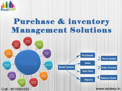 RealERP is known for the Purchase & inventory Management Solutions. It helps in manage record of inventory management and purchasing capacity and keeps the record of total flexibility to control each commodity based on how it is utilized and consumed.  For More Details Visit: http://www.realerp.in/purchase-inventory-management-software.html Phone No:Call Us: +91-8010003355  Address:D - 67 , Sector - 2, Noida