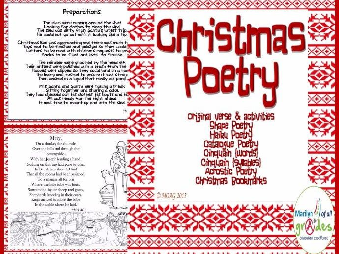 Christmas Poetry Writing and Appreciation.