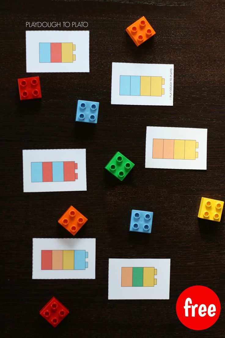 LEGO Pattern Cards. Hands-on pattern practice for kids