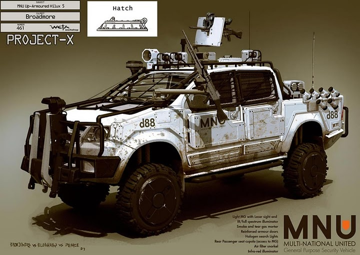 UpArmoured Hilux - We used these in Afghanistan in 2009.