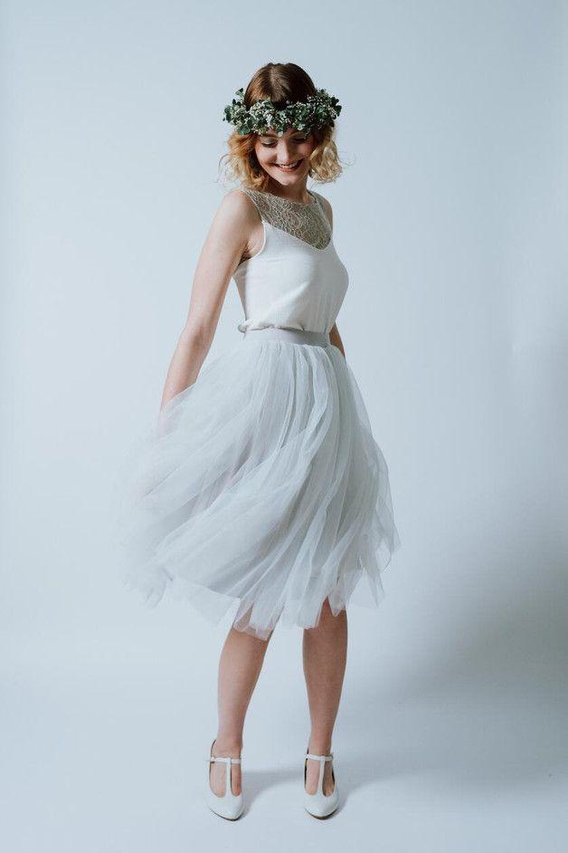 "Tulle Dress ""Pearl Blush"" - Ave-evA - Sukienki midi"
