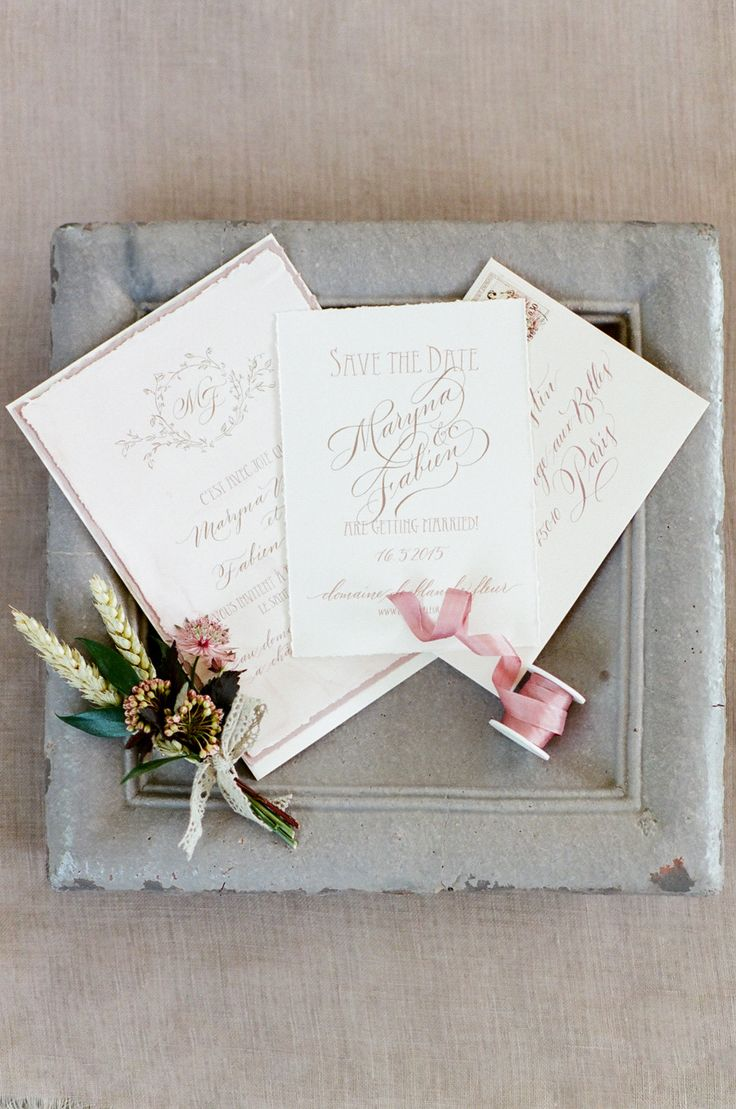 how to address wedding invites%0A Romantic La Vie en Rose Wedding Inspiration in Provence