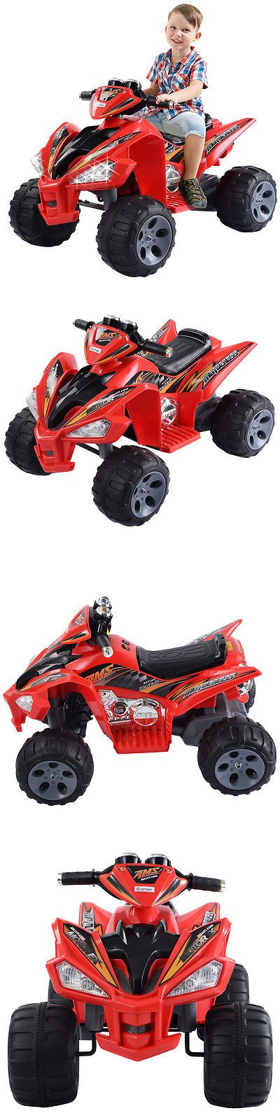 Ride On Toys and Accessories 145944: Kids Ride On Atv Quad 4 Wheeler Electric Toy Car 12V Battery Power Led Lights -> BUY IT NOW ONLY: $119.99 on eBay!