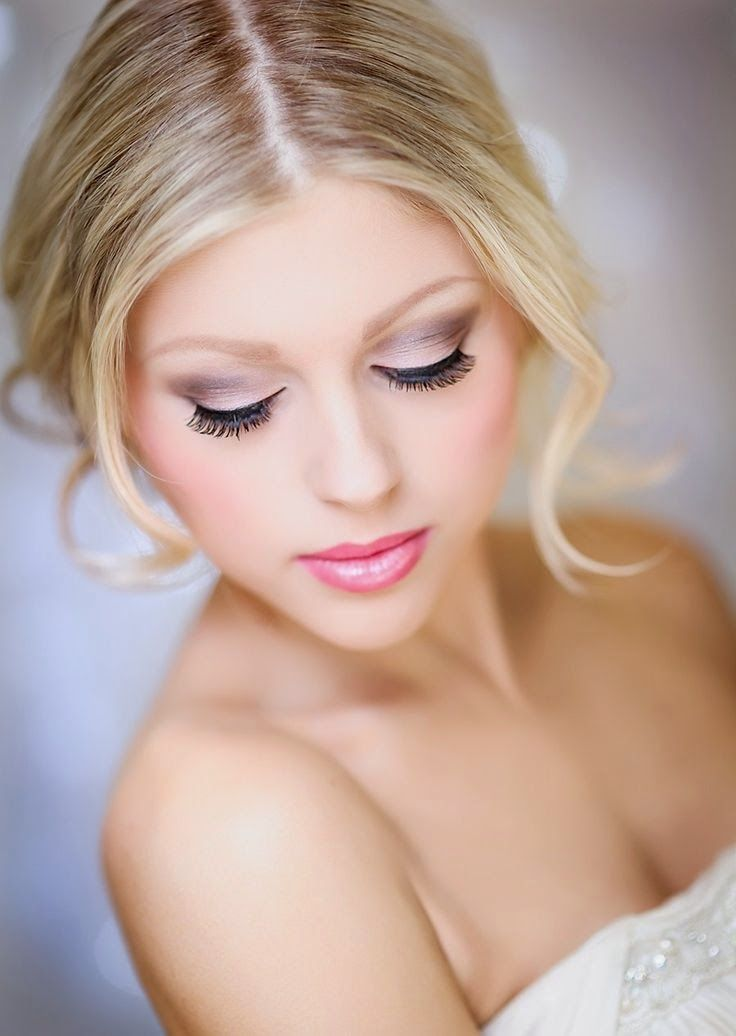 roze/paarse make-up