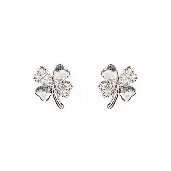 Sterling Silver Lucky Clover Stud Earrings