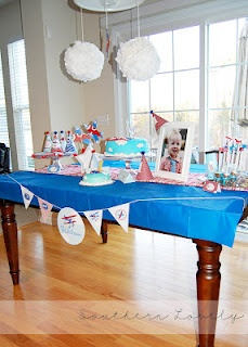Airplane Party. Lot of great ideas for any party including a few recipes.