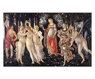 Tappeto multiuso digitale Primavera Botticelli