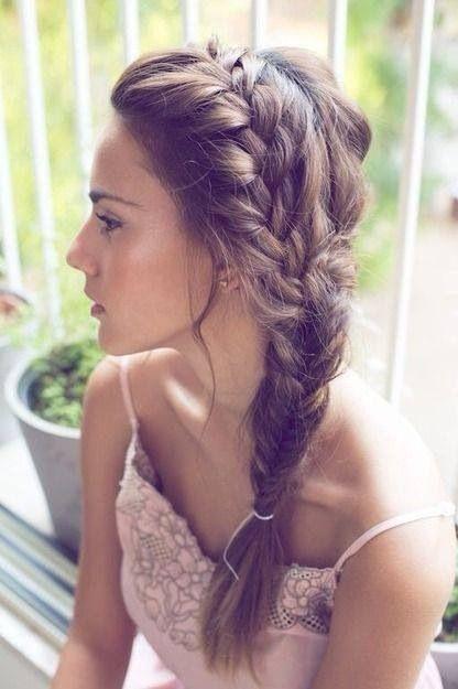 Tumblr hairstyle, brown long hair, braids, braid, plat, fish tail braid, fishtail, girl, insta hair, weheartit