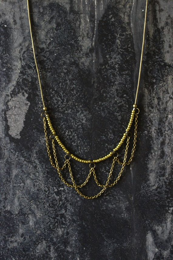 SALE Layered necklace beaded necklace boho by AnankeJewelry