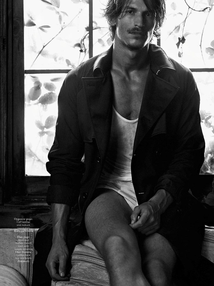 "Jarrod Scott in ""Australia"" by Mark Segal for Vogue Hommes International. Styled by Azza Yousif."