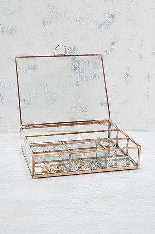 Boîte à bijoux en cuivre - Urban Outfitters