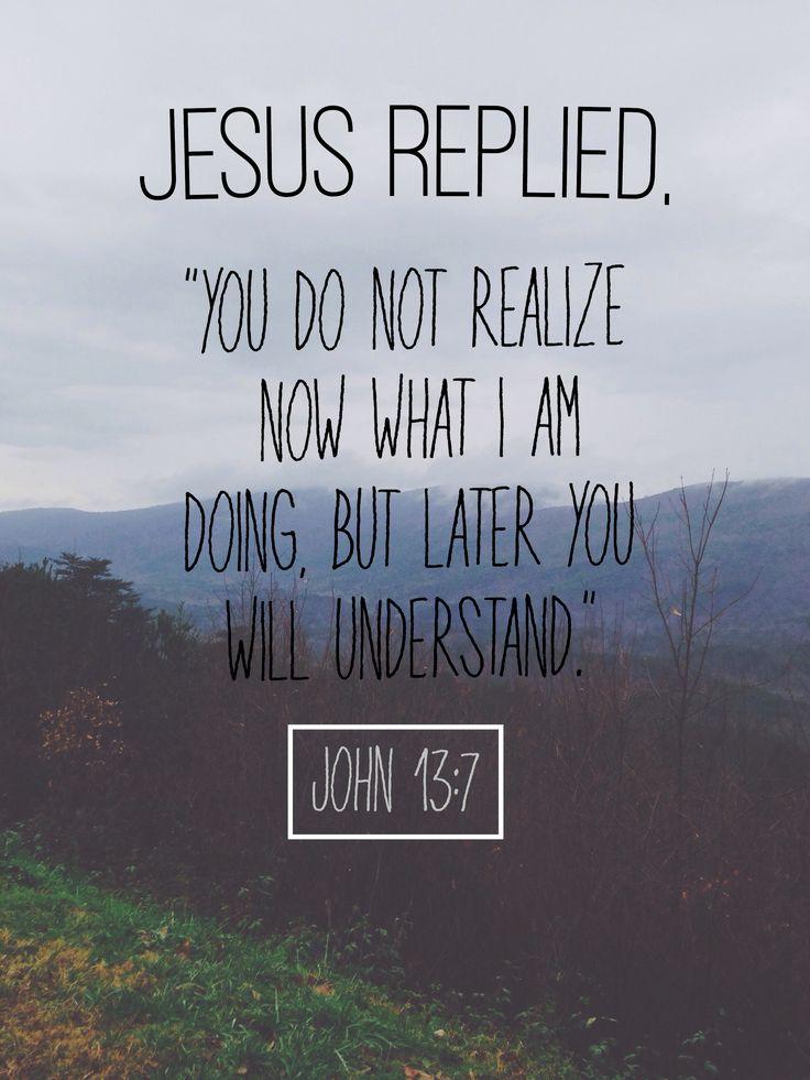 John 13:7 -- blog post: why I struggle with trust