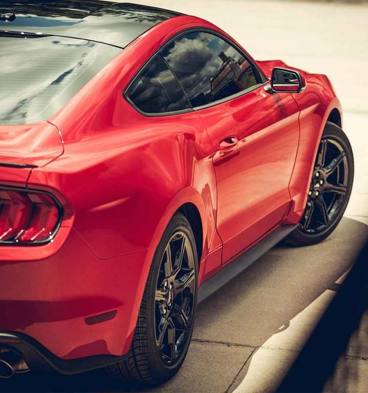 The 2018 Mustang Ecoboost Premium In Race Red With Black Accent