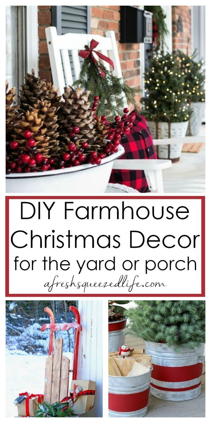 Outdoor Farmhouse Christmas Decorating Ideas A Fresh Squeezed Life Farmhouse Christmas Decor Diy Christmas Lights Front Porch Christmas Decor