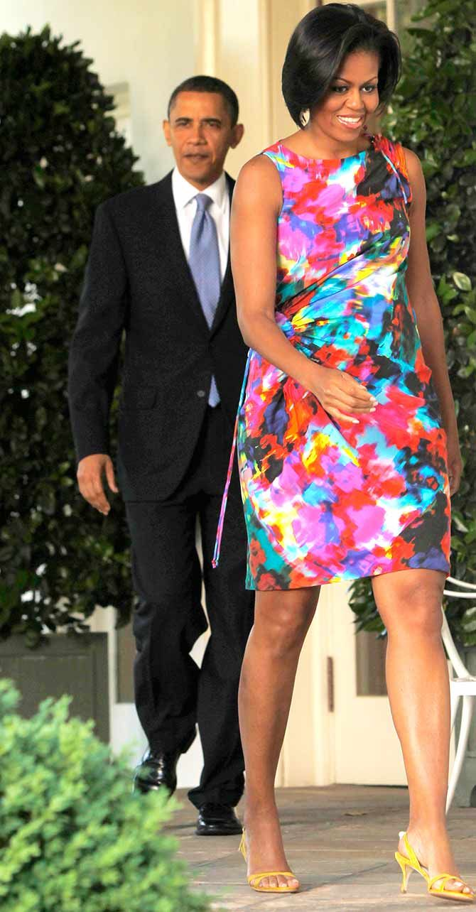 First Lady Michelle Obama and President Obama
