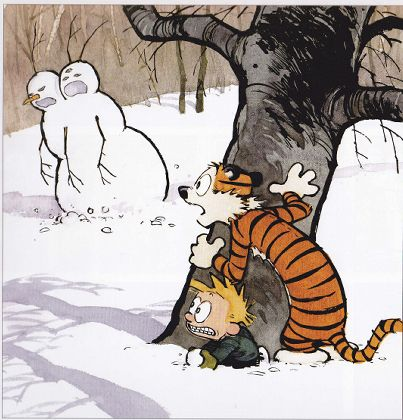 Calvin and Hobbes Snowmen