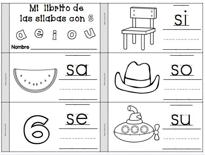 Letra S Silabas sa se si so su | Pinterest | Spanish, Dual language ...