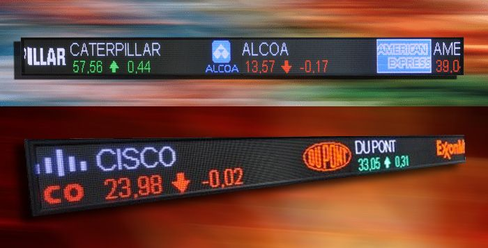 Stock Ticker Signs are key elements of modern Stock Market Information systems, Up to date Market situation. The Led Stock Ticker Inform and guide the investors, Brokers, Learners and also create landmark uniqueness in universities, business schools, public places, brokerage houses and stock exchanges.  http://www.tickerplay.com/led-stock-ticker.html