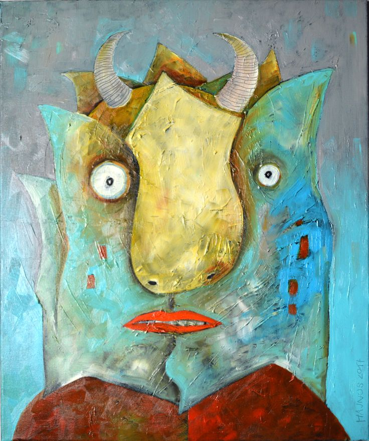 Miroslaw Hajnos - Devil, oil on canvas, 40x50 cm