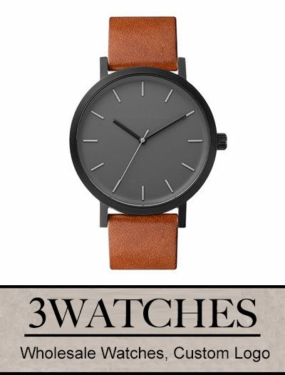 Thehorse Wholesale Watches. Custom Logo. Matte Black / Tan Leather. Visiting: http://www.3watches.com/horse-watch/