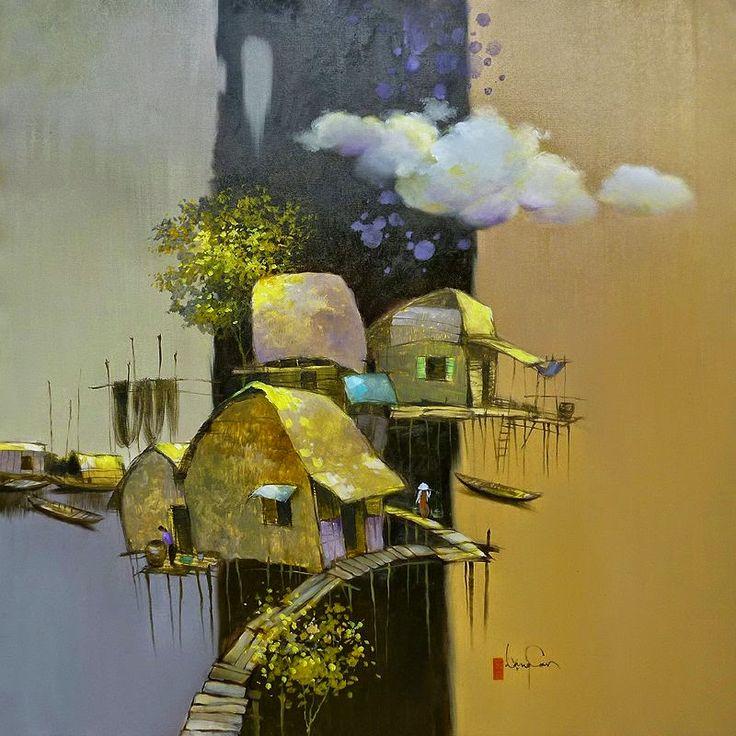 .. @ Dang Van Can, 1957, Vietnamese painter