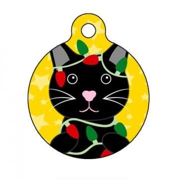 Pet ID Tag - Merry Christmas Kitty Cat Pet Tag, Cat Tag, Luggage Tag ...