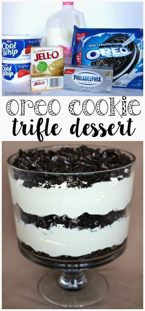 This oreo cookie trifle dessert recipe was amazing - gone…