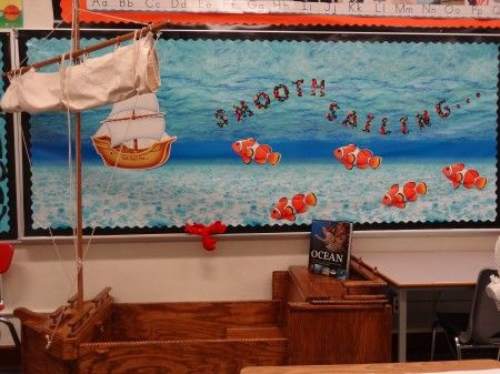 @Jena McClendon Tissier This is a cute idea for your ocean theme!