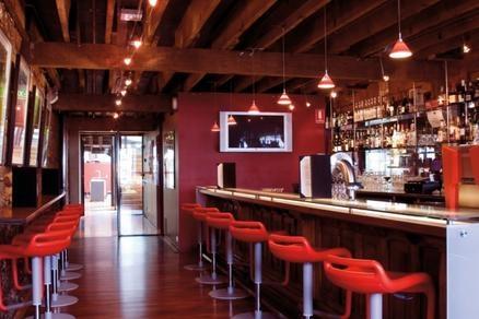 Swanky bar at The Henry Jones Art Hotel Tasmania, Australia