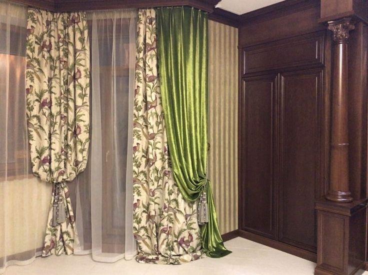 #фазаны #PHEASANT HUNT #galleria_arben в классическом интерьере в сочетании с зеленым бархатом Дизайн @decorhome_ #velvet #декорокна